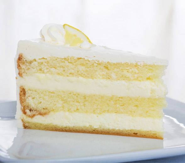 Sugar Free Sliced Lemon Cream Cake Recipe