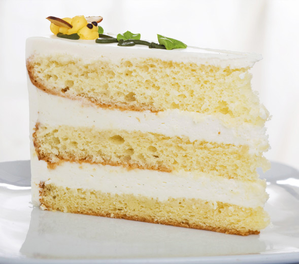 Buttercream Wedding Cake Slice