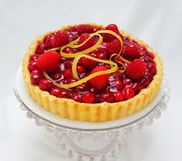 Cranberry Raspberry Tart